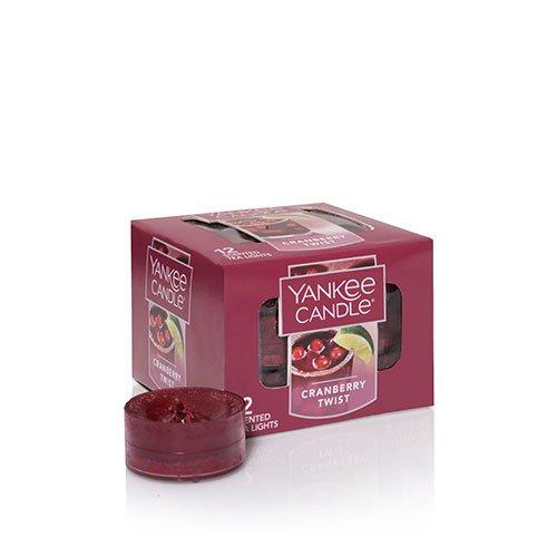 Yankee Candle Cranberry Twist Tea Light Candles, Fruit - Tealight Candles Cranberry