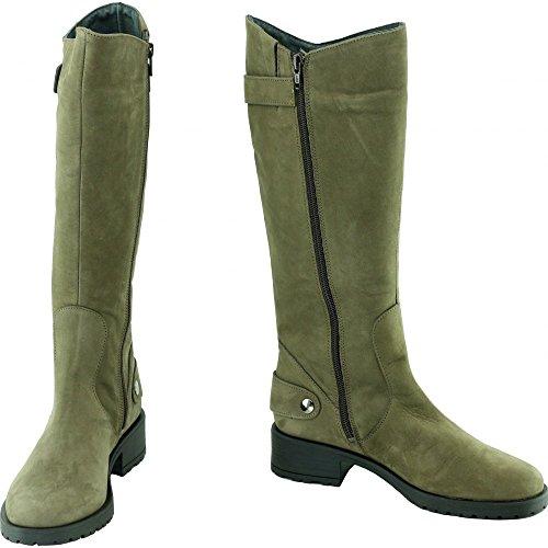 B Motardes b Taupe Chaussures Marque Bottes Crantées Bella Moon Beige Nubuck Femmes Boots ® Zip Semelles Cuir Bella dpwIHdqBx