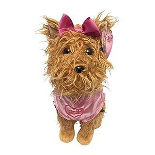 "Nickelodeon JoJo Siwa BowBow the Dog Plush 17"" Pillow Buddy with Pink Sparkle Jacket"""