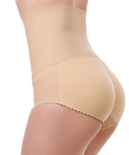 f0091f5172d93 DODOING Tummy Control Panty High Waist Padded Butt Lifter Underwear Shaper  Slim Panties
