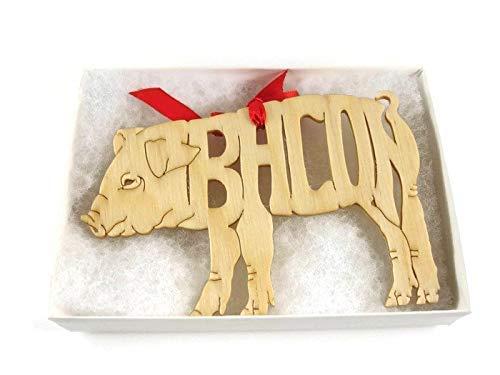 Bacon Pig Christmas Ornament
