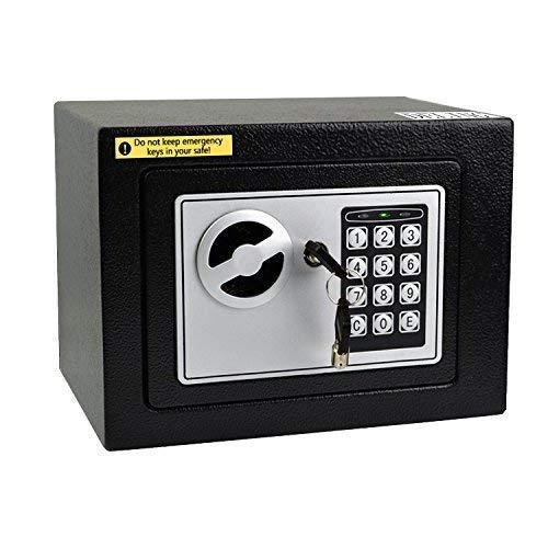 Doitpower 7'' 0.3 Cubic Feet Digital Electronic Safe Black Box Combo Keypad Lock Password Lock