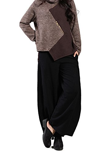 Linen Viscose Wide Leg Pant - Jiqiuguer Original National Linen Harem Pants Oversized Large Small