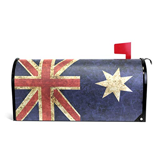 WOOR Flag of Australia Magnetic Mailbox Cover Standard Size-18