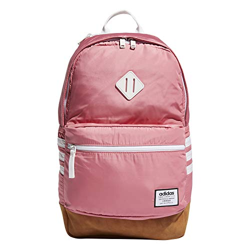 (adidas Classic 3s Plus Backpack, Bliss Pink/White, One Size)