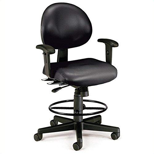 - OFM 241-VAM-AADK-66 24 Hours Anti-Microbial/Anti-Bacterial Vinyl Computer Task Chair with Arms, Drafting Kit