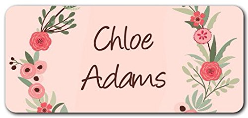 Personalized Name Labels - Cute Customized Designs for Both Babies and Kids - Great for School and Daycare - Easy-to-Apply Stickers Have a Glossy Finish - Waterproof - 48 ct. -