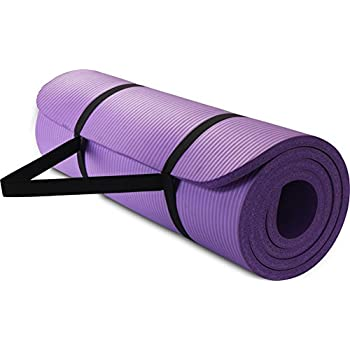 All Purpose Extra Thick High Density Yoga Mat - Purple - By Utopia Home