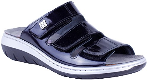 HELLE FASHION COMFORT WOMEN's JORDAN BLACK 3 VELCRO SLIDE BUNION SHIELD SIZE 42 by Helle Comfort