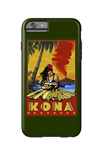 Kona, Hawaii - Hula Girl and Ukulele (iPhone 6 Plus Cell Phone Case Cell Phone Case, - Kids Kona