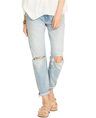 Denim & Supply Ralph Lauren Distressed Boyfriend Jeans (32, Miller Wash)
