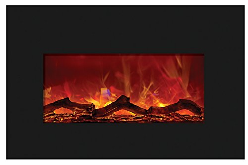 Cheap Amantii Medium Electric Fireplace Insert with Black Glass Surround - INSERT-30-4026 Black Friday & Cyber Monday 2019