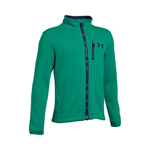 Under Armour Boys UA Granite Jacket, Geode Green (993)/Midnight Navy, Youth Medium