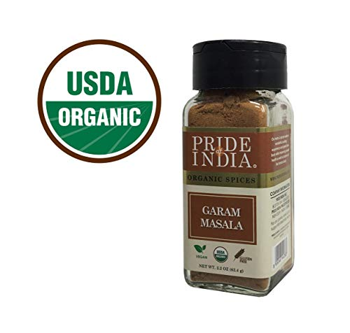 Pride Of India - Organic Spice Shakers w/Dual Sifter Caps (Organic Garam Masala) - BUY 1 GET 1 FREE (MIX AND MATCH - PROMO APPLIES AT CHECKOUT)