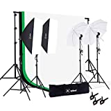 Upland Photography Studio Lighting Kit, 800W 5500K Umbrella Softbox Continuous Light Kit Product, Portrait Video Shoot