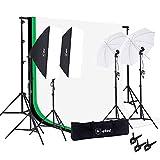 Upland Photography Studio Lighting Kit, 800W 5500K Umbrella Softbox Continuous Light Kit Product, Portrait Video Shoot