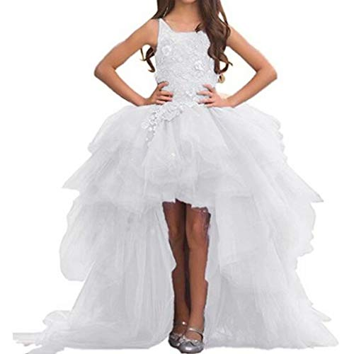 Angel Dress Shop Ivory Pink Off-Shoulder Sleeveless Sweep Train Holiday Gown for Teens with Applique