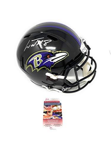 Lamar Jackson Baltimore Ravens Signed Autograph Speed Full Size Helmet JSA Witnessed Certified from Mister Mancave