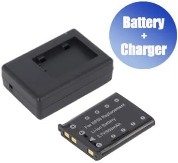 900 mAh BattPit trade; New Digital Camera Battery Casio Charger Replacement for Casio NP-80