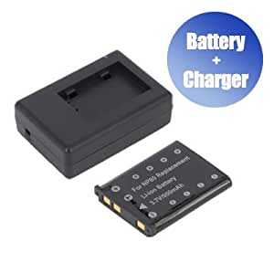 Battpit™ Battpit™ New Digital Camera Battery + Charger Replacement for Casio Exilim ZOOM EX-Z26 (900 mAh) (Ship from Canada)