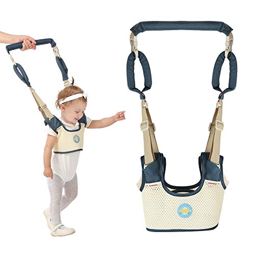 Accmor Baby Walking Harness Handheld Baby Walker, Adjustable Baby Walking Assistant Safety Harnesses, Breathable Stand up & Walking Learning Helper for Infant Child, Pulling and Lifting Dual Use