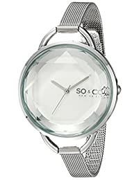 SO & CO New York Women's 5104.1 SoHo Analog Display Japanese Quartz Silver Watch