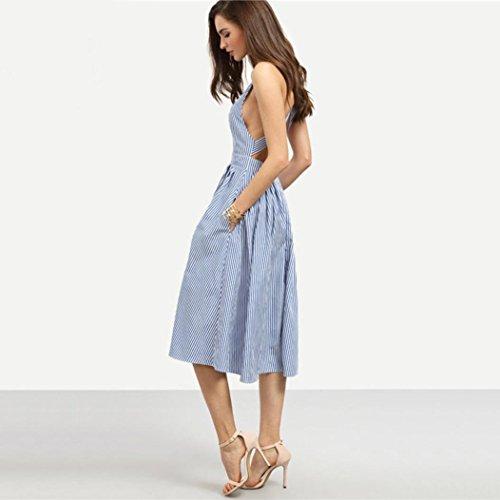 Kleid Transer® Damen Elegant Sexy Kleider Hausfrau Täglich ...