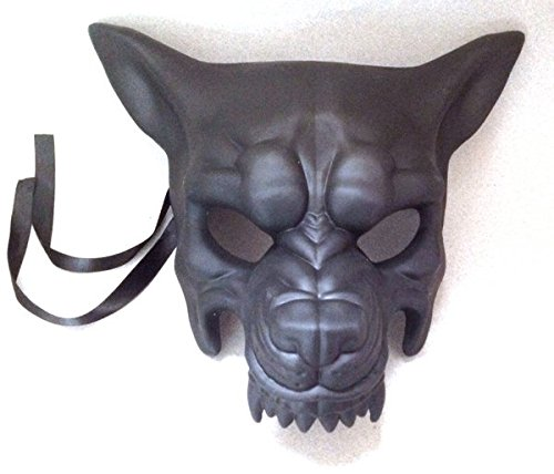 Masquerade Wolf Mask (Black Wolf Mask Animal Masquerade Halloween Cosplay Graduation party mask)