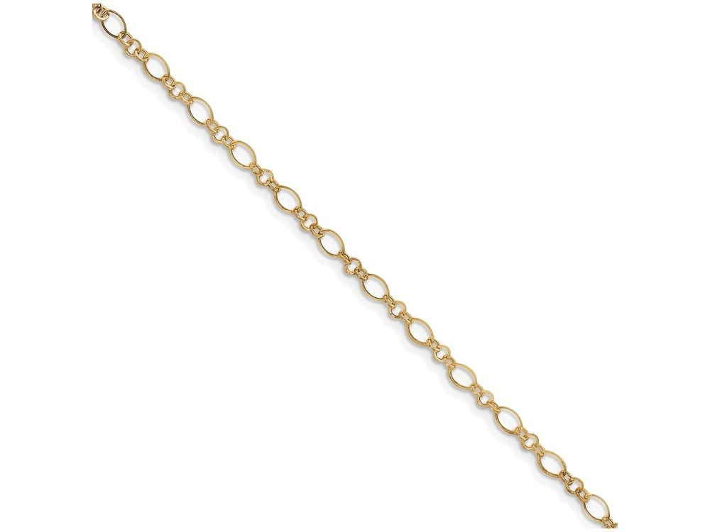 Finejewelers 10 Inch 14k Yellow Gold 9in with 1in Ext Anklet
