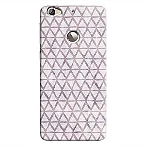 Cover It Up - Triangle Print Purple Le 1s Hard Case