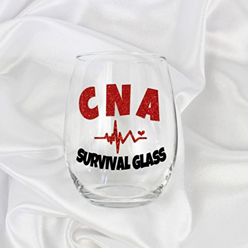 CNA Gifts for Women Certified Nursing Assistant Stemless wine glass graduation idea Large 0128 ()