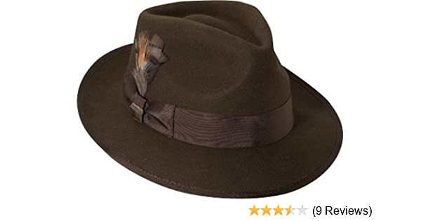 3706d6471f8e3 Scala Classico Men s Wool Felt Snap Brim Fedora