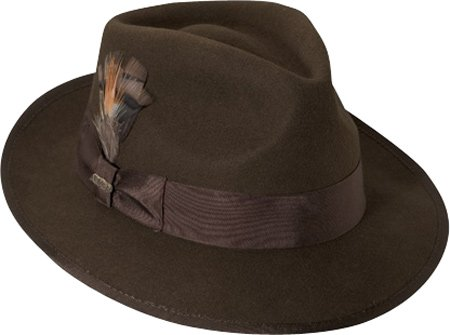 4dcc70df06131 Image Unavailable. Image not available for. Color  Scala Classico Men s  Wool Felt Snap Brim Fedora ...
