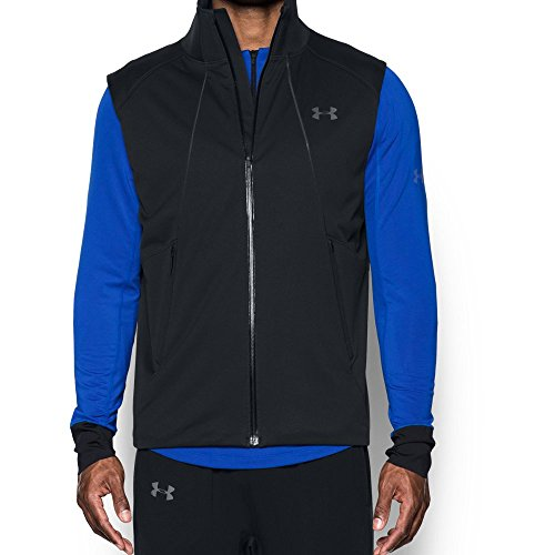 Under Armour Men's Storm ColdGear Reactor Run Vest, Black/Black, X-Large