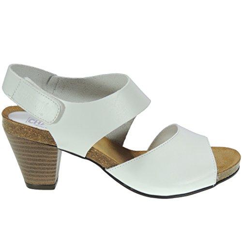 Blanc Calzados Femme pour Romero Sandales wIgXw
