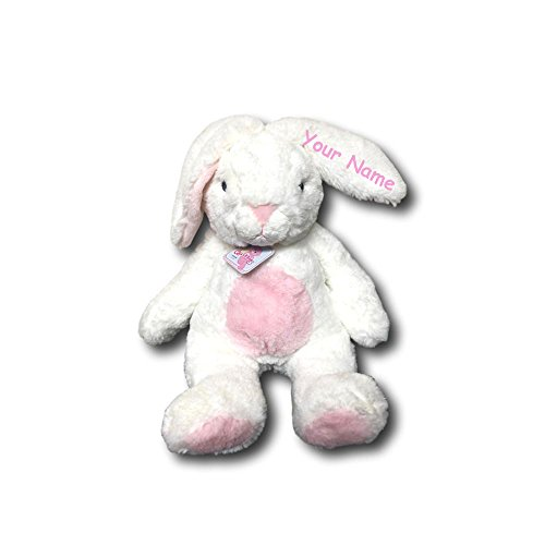 Personalized Aurora World Quizzies Bun Bun Pink Easter Bunny Plush Stuffed Animal Toy - 16 - Bunny Easter Personalized