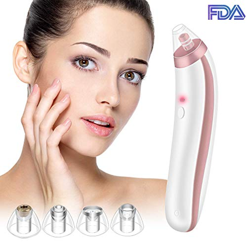 Blackhead Remover 2019 Electric Blackhead Vacuum Suction Remover,Pore Vacuum Skin Cleanser Blackhead Extractor Tool with 4 Replaceable Suction Heads