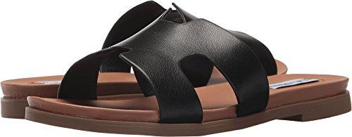 Steve Madden Women's Daphnee Black Leather 7.5 M US