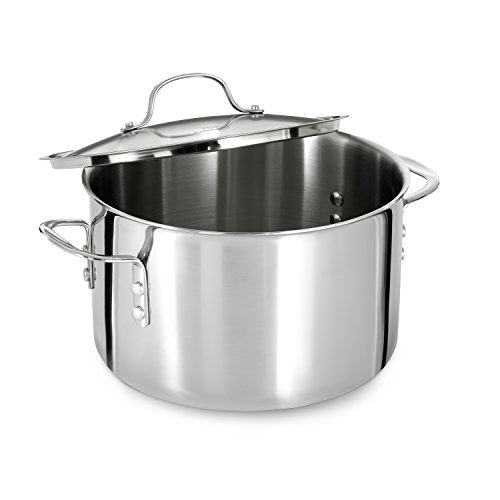 Calphalon (1767727) Tri-Ply Stainless Steel 8-Quart Stock Pot with Cover by Calphalon (Image #2)