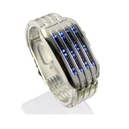 New 44 LED Stainless Steel Digital Wrist Watch for Men by DK99