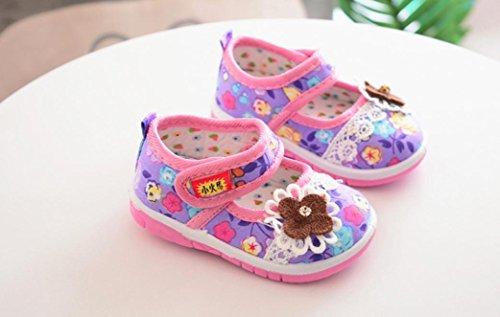 Janly Schuhe 0-4 Jahre Alte Mädchen Blumen Single Sneaker Kleinkind Neugeborenen Schuhe Erste Wanderer Lila