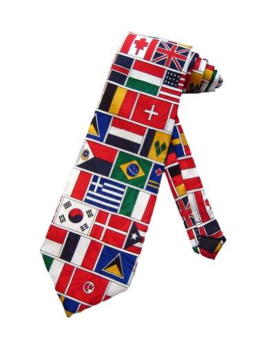 World FLAGS Neckties TIES Mens Necktie