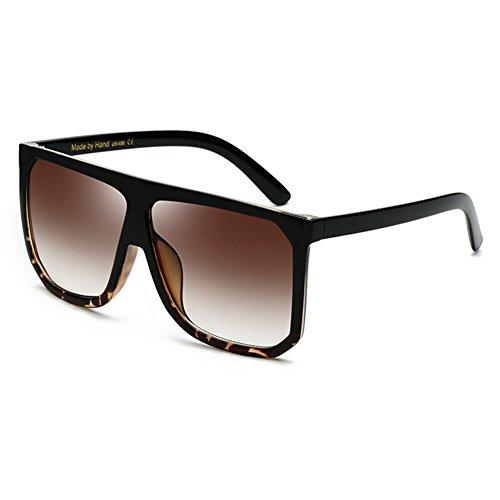 de C2 Top Oversized Juleya Shadow UV400 Gafas Retro sol Women Men Shield Flat 1xHSxwnqzB
