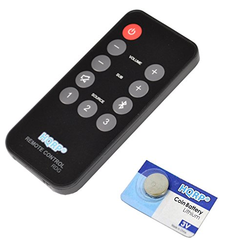 HQRP Remote Control for Polk Audio RE1305-2 RE1305-1 3000 4000 6000 ONE Step SB6000IHT SB4000IHT SB3000IHT Instant Home Theater Soundbar Speaker System Controller + HQRP Coaster