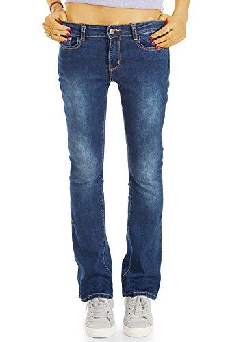 para Bestyledberlin Vaqueros Mujer Oscuro Azul Cut Pantalones Boot wqFIq4