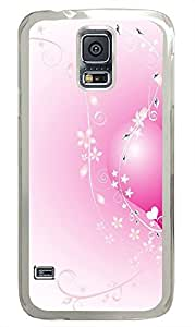 Samsung Galaxy S5 personalize covers Pink Valentine Heart PC Transparent Custom Samsung Galaxy S5 Case Cover