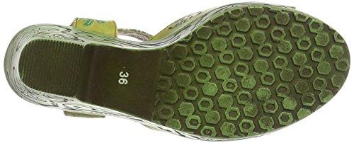 Laura Vita Damen Bertha 07 Sandalen Grün (Vert)