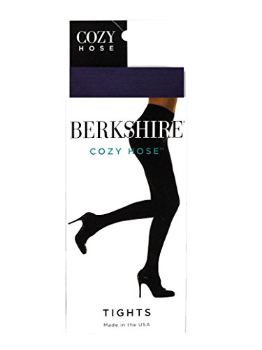 Berkshire Women's Cozy Hose Tights, Navy, 3X-4X - Microfiber Plus Size Tights