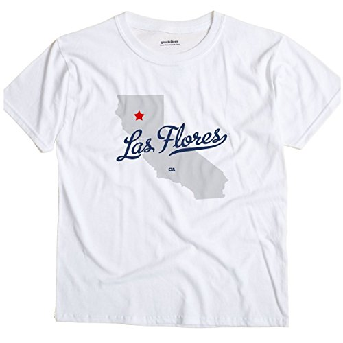 Las Flores California CA, Tehama County MAP GreatCitees Unisex Souvenir T Shirt