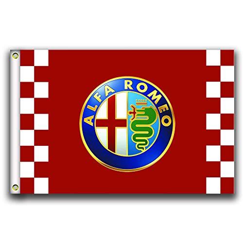 MCCOCO Alfa Romeo Racing Flags Banner 3X5FT-90X150CM 100%